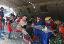 Personil Koramil 04/Ciledug, Kota Tangerang Beserta Keluarga Jalani Rapid Tes