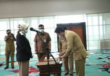 Proses Walikota Tangsel Lantik Pejabat Fungsional