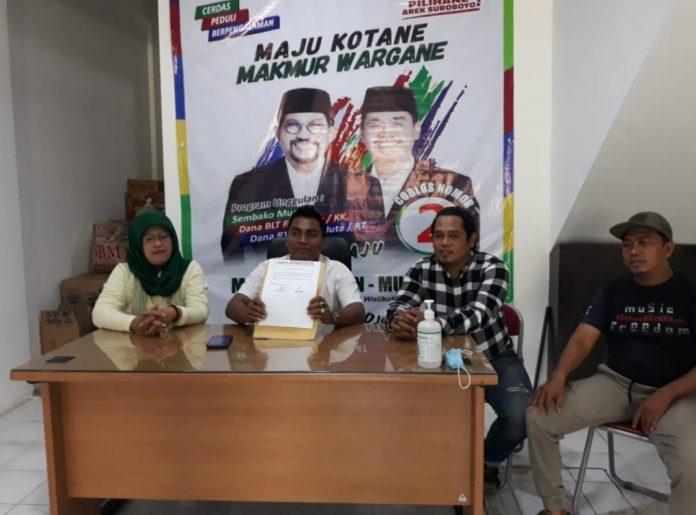 Moelyadi, SH, Ketua DPD Jaman Jatim mengumumkan penonaktifan pengurus DPK Jaman Surabaya