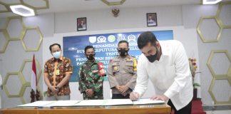 Penandatanganan Surat Keputusan Bersama (SKB) Cegah Covid-19 Forkopimda Kota Probolinggo