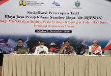 Suasana sosialisasi penerapan tarif Biaya Jasa Pengelolaan Sumber Daya Air BJPSDA di Wilayah Sungai Toba Asahan Sumatera Utara