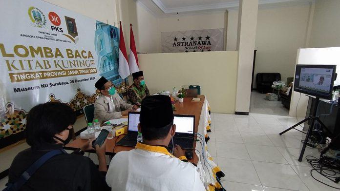Suasana Lomba Baca Kitab Kuning PKS Jatim di Kompleks Museum Nahdlatul Ulama' (Museum NU) Jalan Gayungsari Barat Surabaya