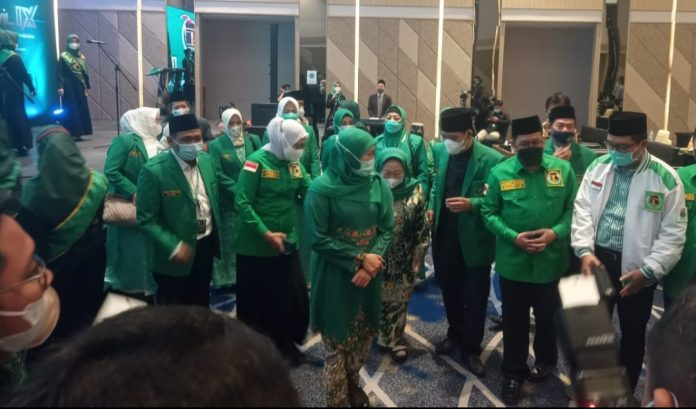 Khofifah Indar Parawansa hadir dalam pembukaan Muswil IX PPP Jatim di Hotel Novotel Samator, Surabaya./ist.