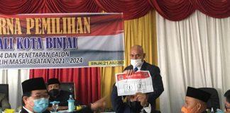 Suasana pemilihan Wakil Walikota Binjai oleh anggota DPRD Binjai di Gedung Dewan, Jalan Tengku Amir Hamzah