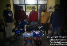 Dua remaja pelaku curanmor yang diamankan polisi atas kecurigaan saat dorong motor hasil curian/ist