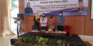 Kegiatan sosialisasi diseminasi terkait pembatalan keberangkatan jamaah haji tahun 2021 angkatan I di Pasuruan.
