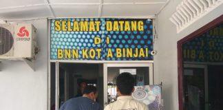 37 warga salah satu kontrakan di kota Binjai digiring ke kantor BNN kota Binjai