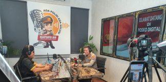 Kapolresta Malang Kota, Akbp Budi Hermanto, S.I.K., M.Si. bersama Gus Miftah saat acara podcast RAPOPO SIS/ist.